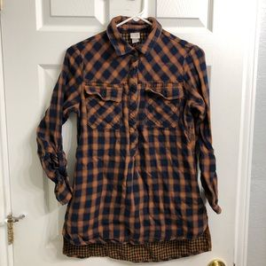CANYON RIVER BLUES Blue & Yellow Flannel Size S